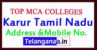 Top MCA Colleges in Karur Tamil Nadu
