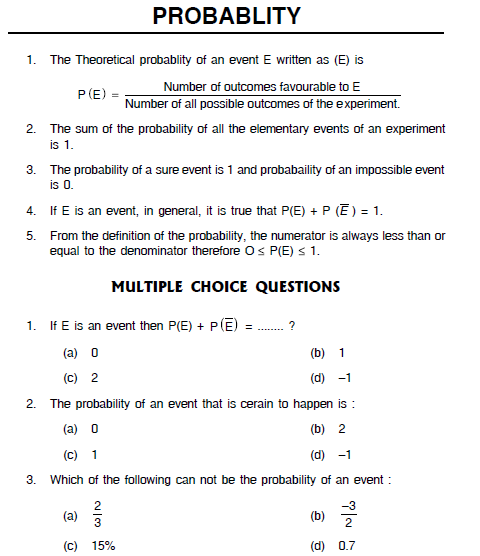 Probability Important Questions ~ SCC Education