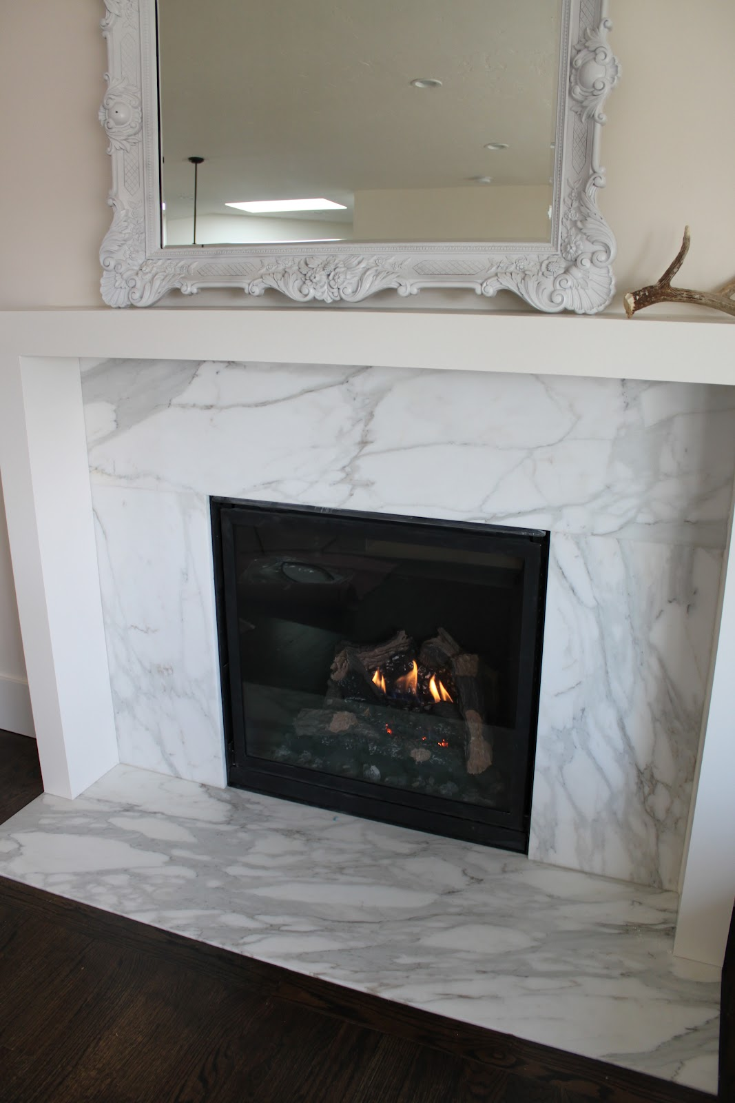 Evolution of a fireplace.
