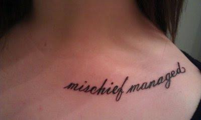 "zachi: What does ""Mischief Managed"" mean?"