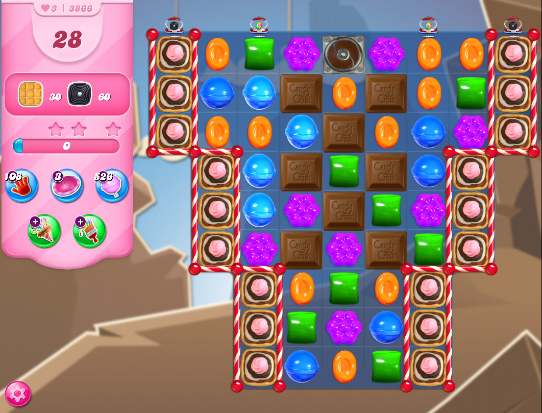 Candy Crush Saga level 3866
