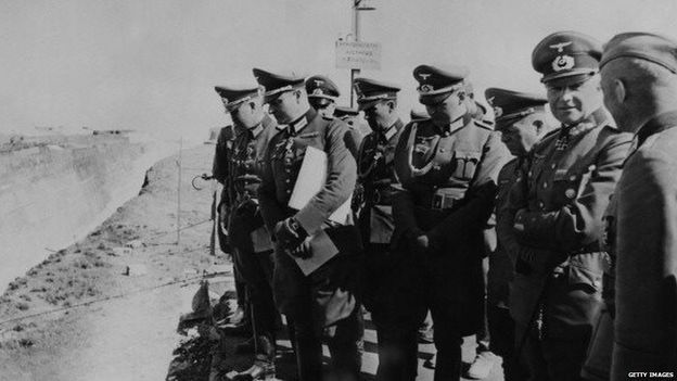 Commander-in-Chief of the German Army Field Marshal Walther von Brauchitsch at the Corinthian Canal 27 May 1941 worldwartwo.filmnispector.com