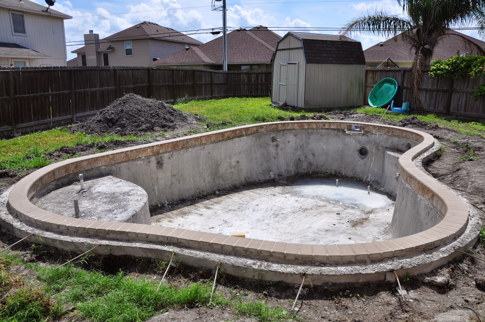I think after two weeks of this stage we finally had re-bar around the pool  for ...