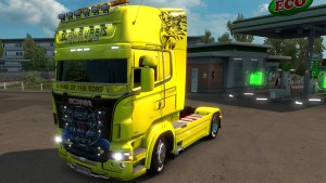 The Griffin Yellow/Black skin for Scania RJL