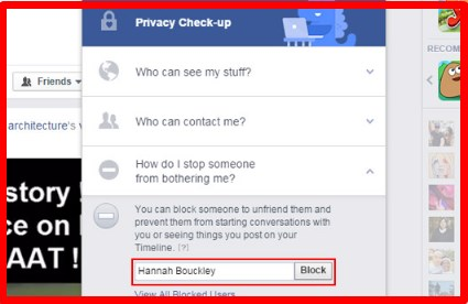 can you block someone from facebook