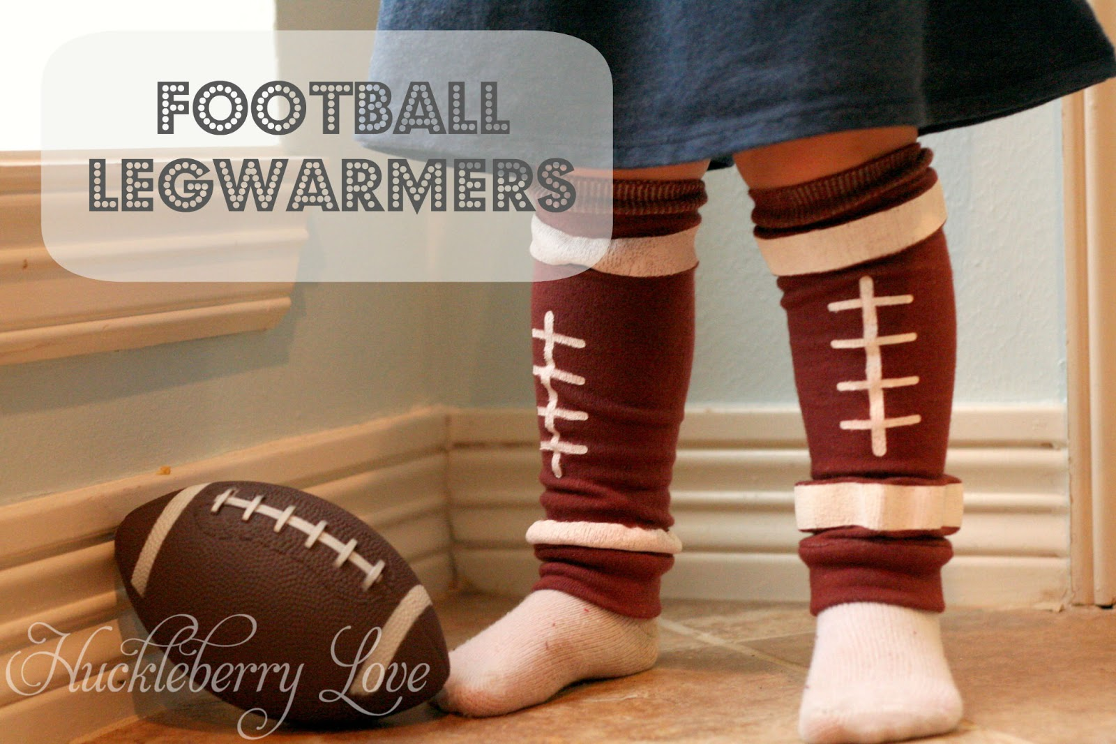 Football Legwarmers by Huckleberry Love
