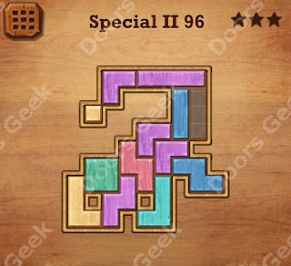 Cheats, Solutions, Walkthrough for Wood Block Puzzle Special II Level 96