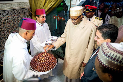 Muhammadu Buhari Arrived to a warm welcome in Morocco last night.
