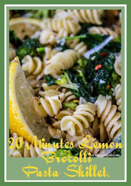 20-Minutes Lemon Broccolli Pasta Skillet.