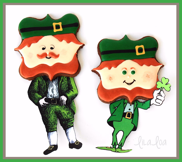 St. Patrick's Day cookies -- decorated sugar cookies