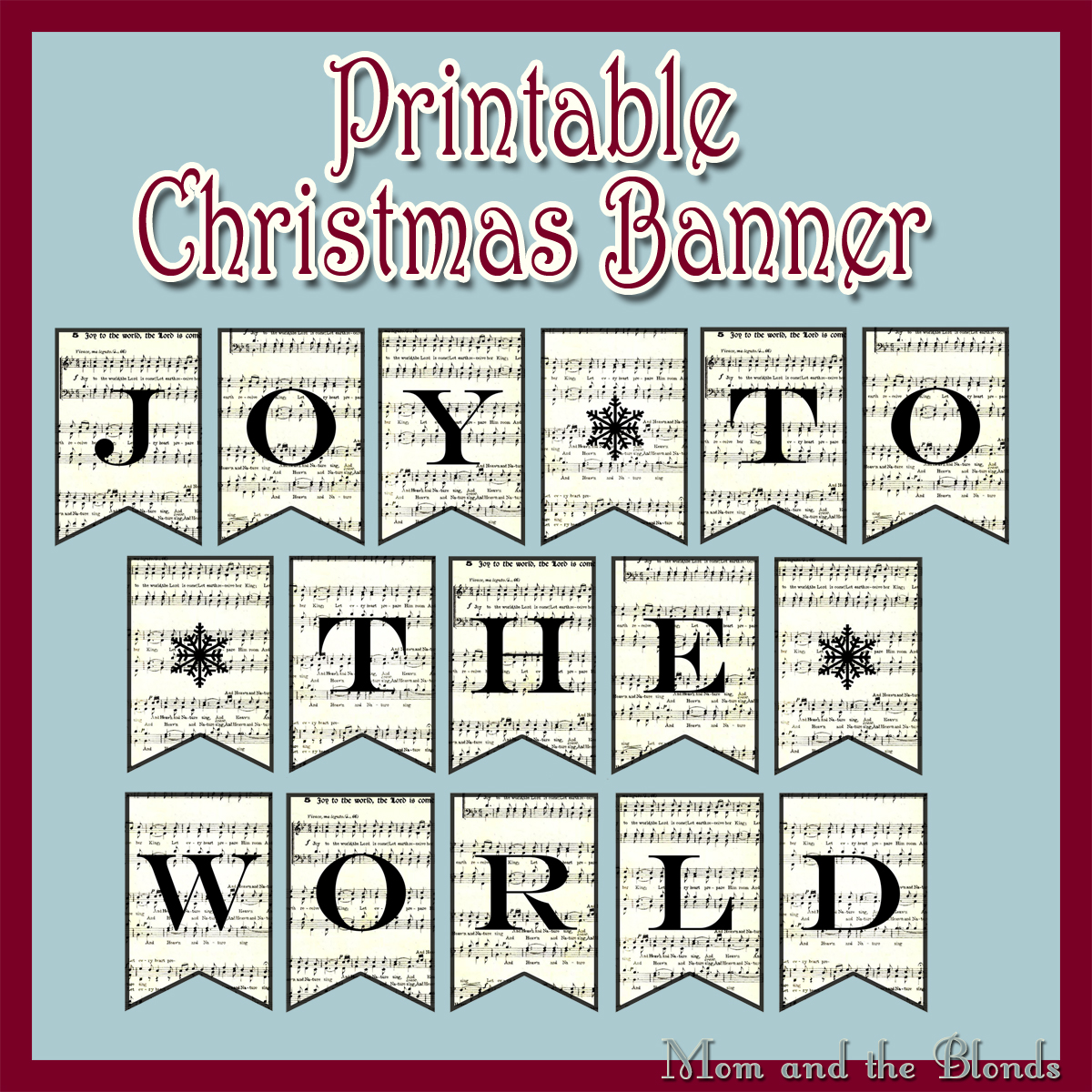From The Carriage House Joy To The World Printable