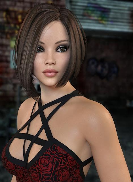 Kaylessa Hair for Genesis 3 and 8 Female