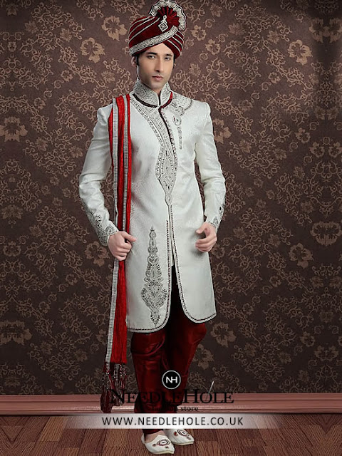 Beautiful Sherwani For Men Wedding By Aijaz Aslam