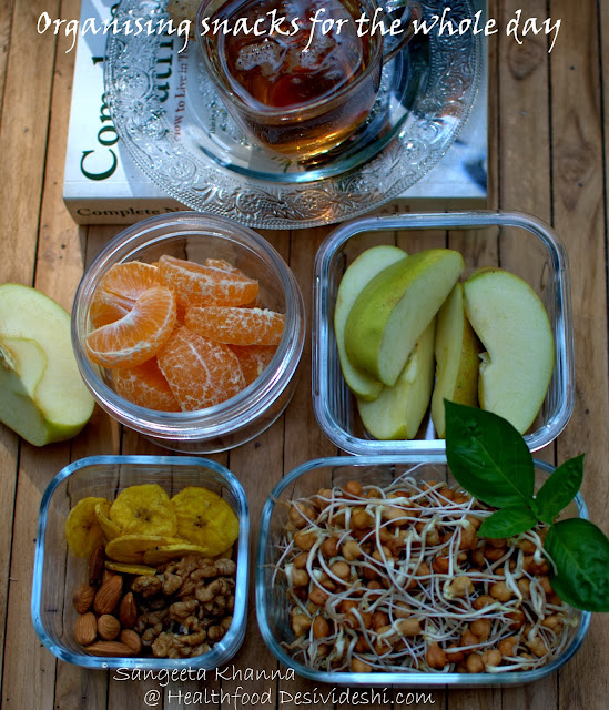 the spirit of fitness and being organised | how to organise healthy eating through the day