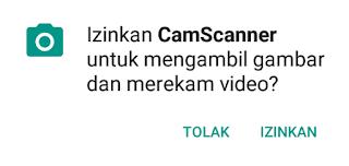 izinkan kamera scanner