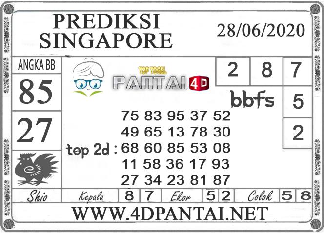 PREDIKSI TOGEL SINGAPORE PANTAI4D 28 JUNI 2020