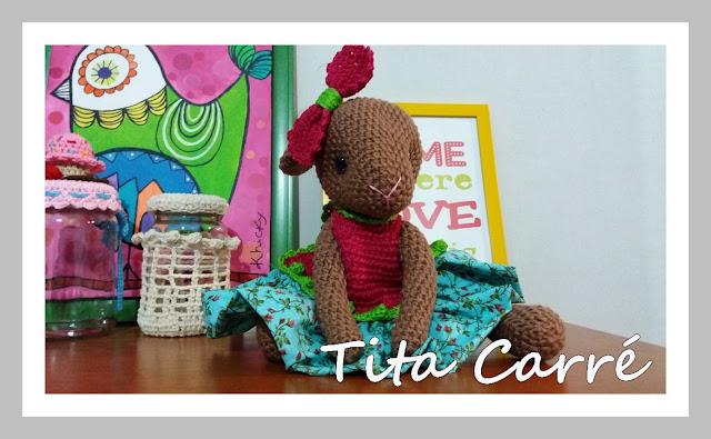 Coelha Florida em Crochet