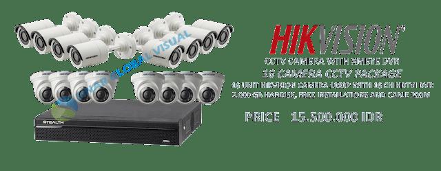 Paket Pasang 16 Kamera CCTV HIKVISION Murah