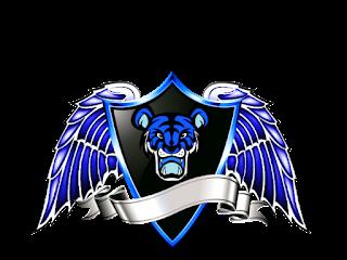 Logo Polos Perisai Bersayap Kuning Emas gambar macan