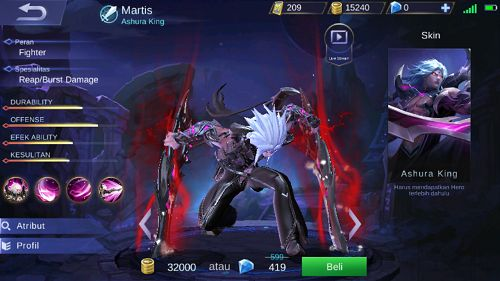 Hero Baru Martis Ashura King Mobile Legend - Selamat Tinggal Alucard?