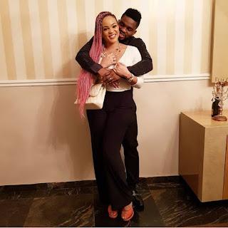 Loved-Up Photo of Adaeze Yobo and Her Hubby Joseph Yobo