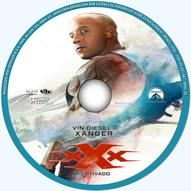 Label DVD xXx Reativado (Tripo X Reativado)