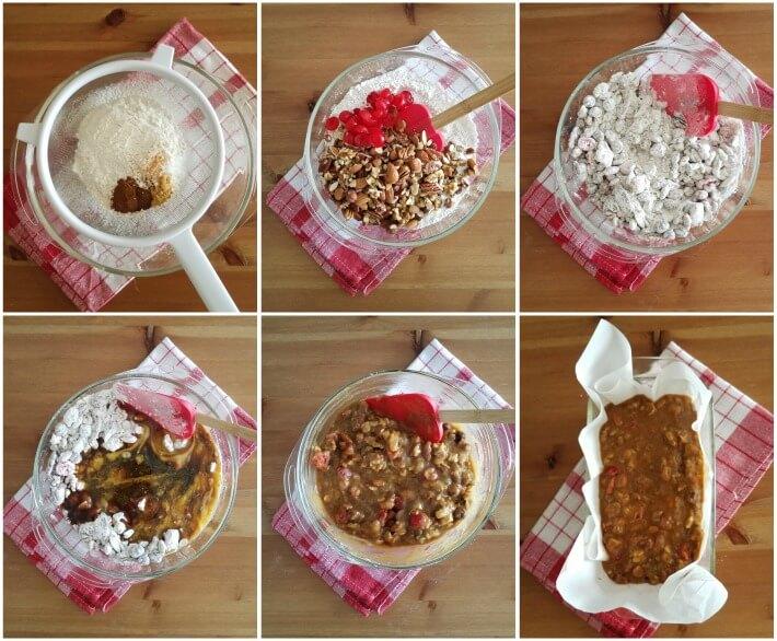 Paso a paso para preparar la receta de la torta negra de frutos secos, especias y licor