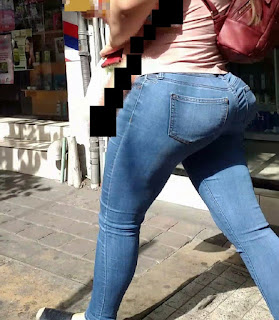 Hermosa chica nalgona caderona jeans