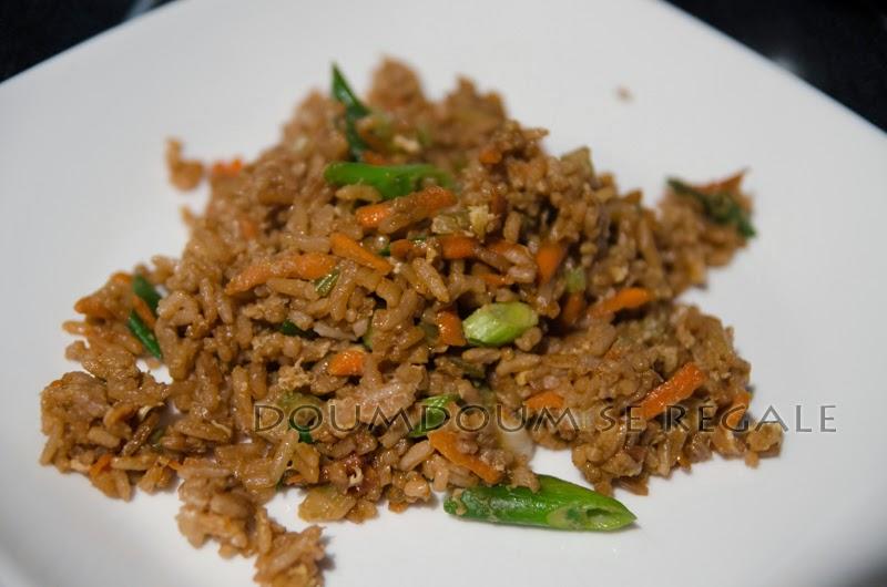 Riz frit  la chinoise  Doumdoum se rgale
