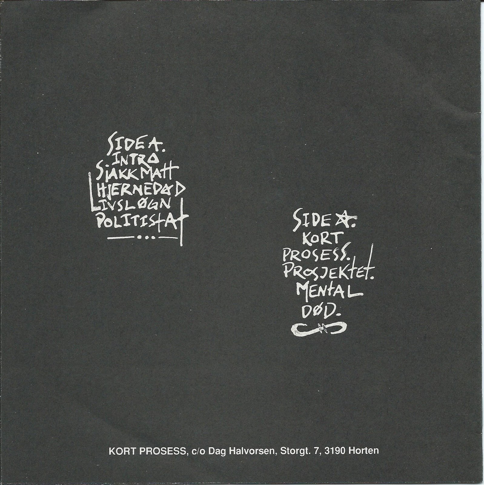 Norwegian Punk And Hardcore Kort Prosess A Partial Discography