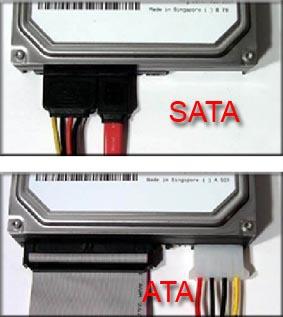 Harddisk Model SATA dan PATA