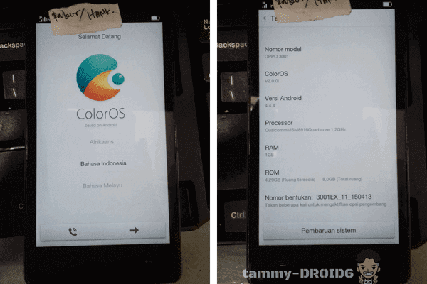 Firmware Unbrick Oppo Mirror 3 R3001 Tested
