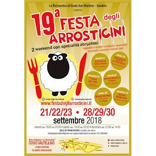 Festa Degli Arrosticini dal 21 al 30 settembre Cosio Valtellino (SO)