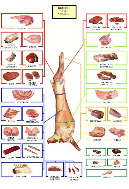 GastroNomia MateriasPrimas Tipo de cortes Despiece EL