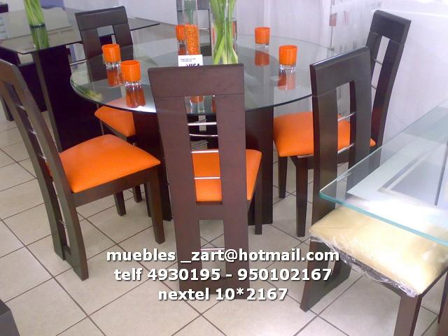 Juego de comedor 6 sillas base corazon comedores modernos for Juego de comedor peru