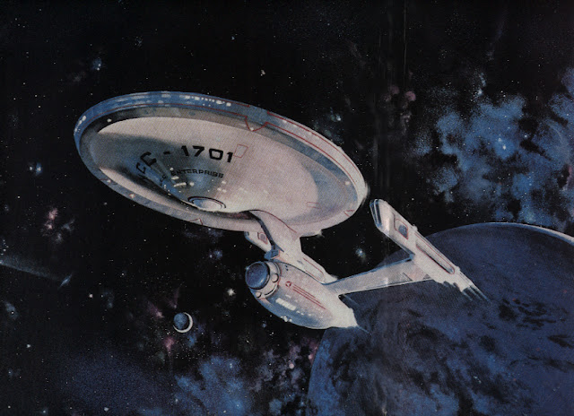 La USS Enterprise NCC-1701 (restaurata) ritratta in un artwork - TG TREK: Notizie, Novità, News da Star Trek