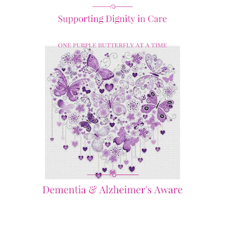 Purple Butterfly for Dignity in Care