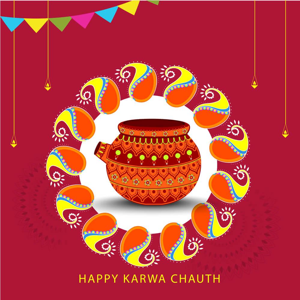 Happy Karva Chauth Image.