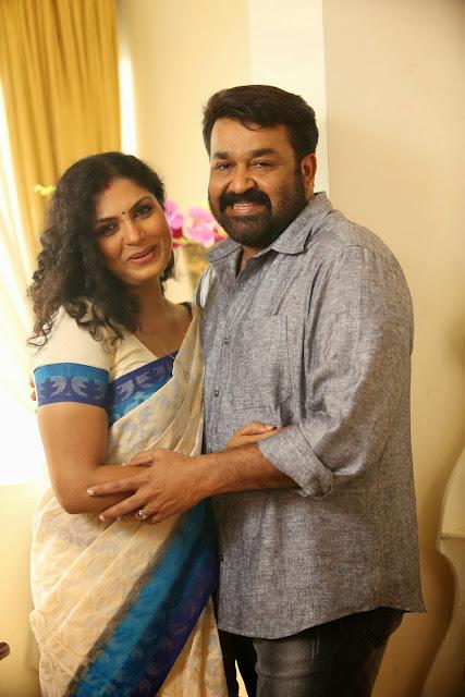 Asha Sarath With Mohanlal HD Pics