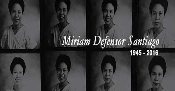 """The Madam"" Miriam Defensor Santiago Passes Away At 71"