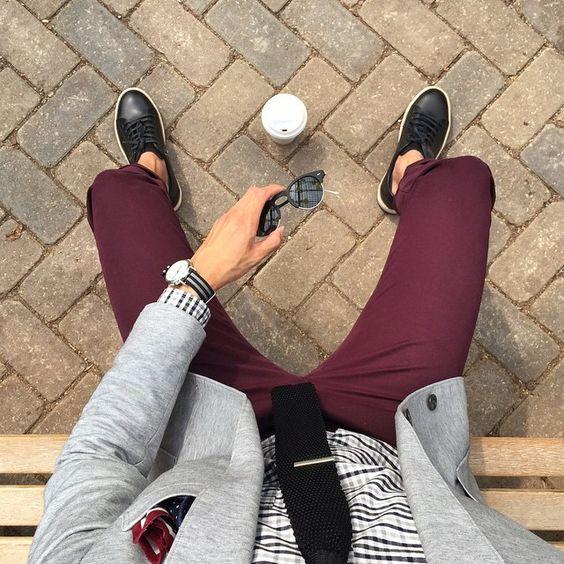 Resultado de imagem para moda masculina look social acessórios