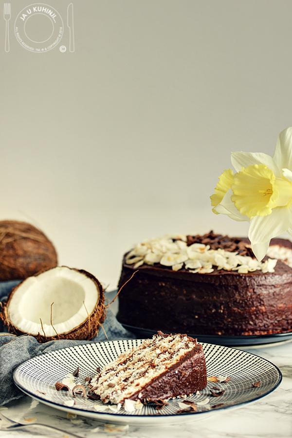 Čokoladna kokos torta