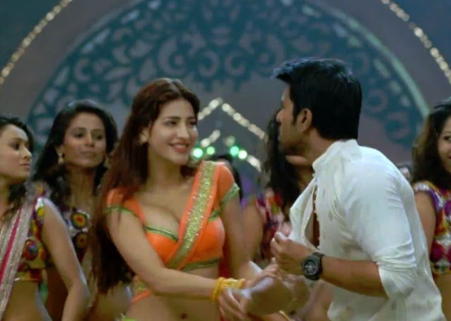 shrut hassan - Shruti hassan seducing hot Photos In Yevadu Dimple pimple song:Boobs Cleavage and Sexy Navel Compilation