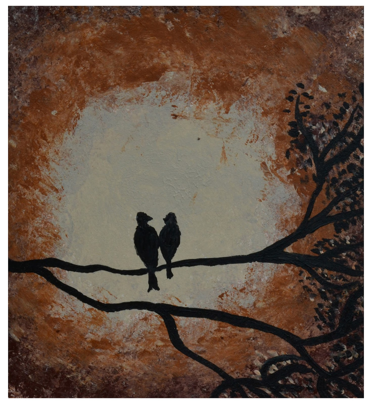AnnmariesART: Heart, Birds & You Tube - Acrylic Paintings
