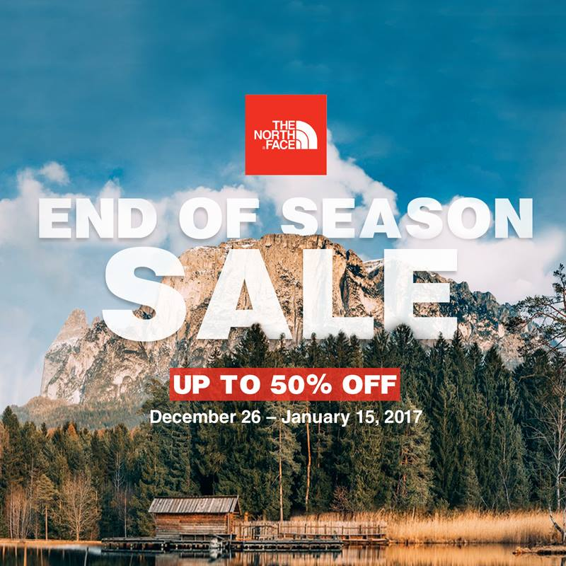 12cc745c5 Manila Shopper: The North Face End of Season SALE: Dec 2016-Jan 2017