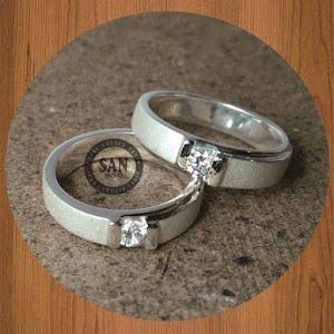 cincin paladium perak p4776