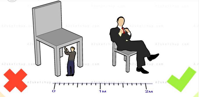Vẽ scale sketchup, sai tỷ lệ