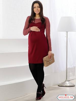 8727c38ee Mas de 65 Ideas de Vestidos para Embarazadas ¡Modernos y SUPER ...