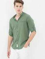 Yeşil renk pantolon kombin
