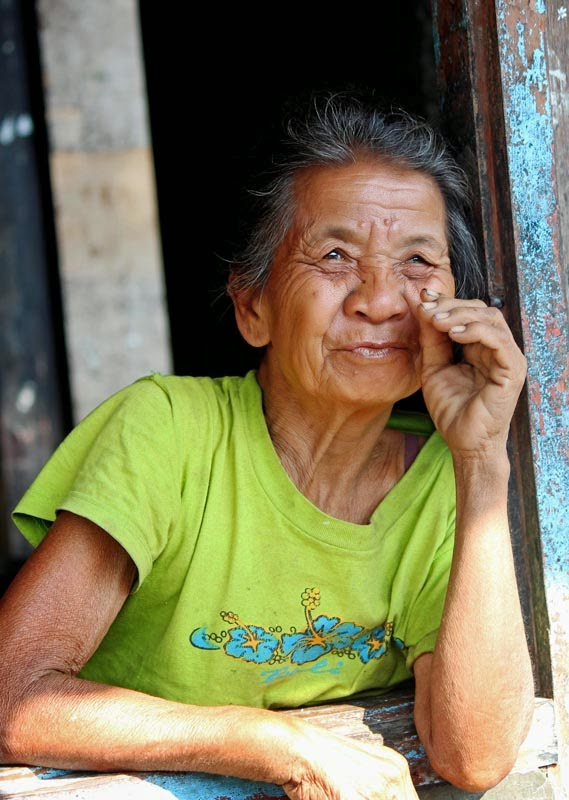 Old woman from Bali